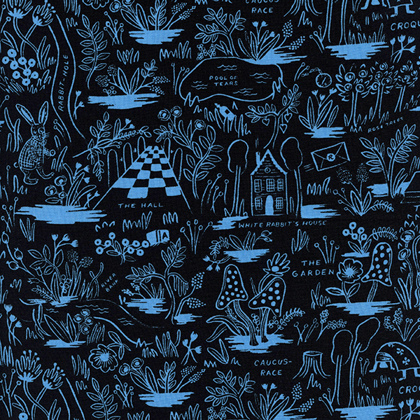Magic Forest in Blue (RAYON)