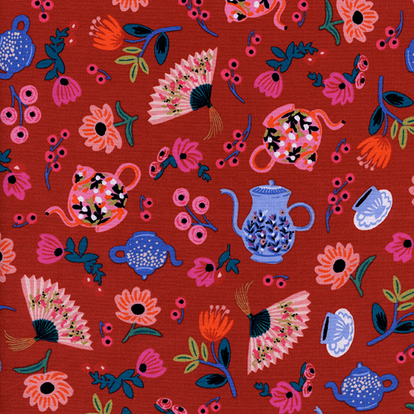 Garden Party in Crimson