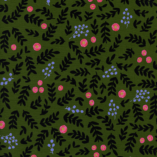 Rose Garden in Moss (METALLIC)