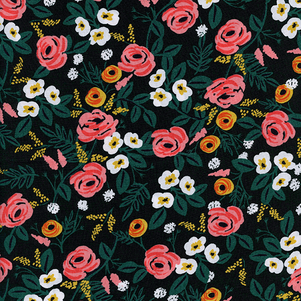 Paint Roses in Black (RAYON)