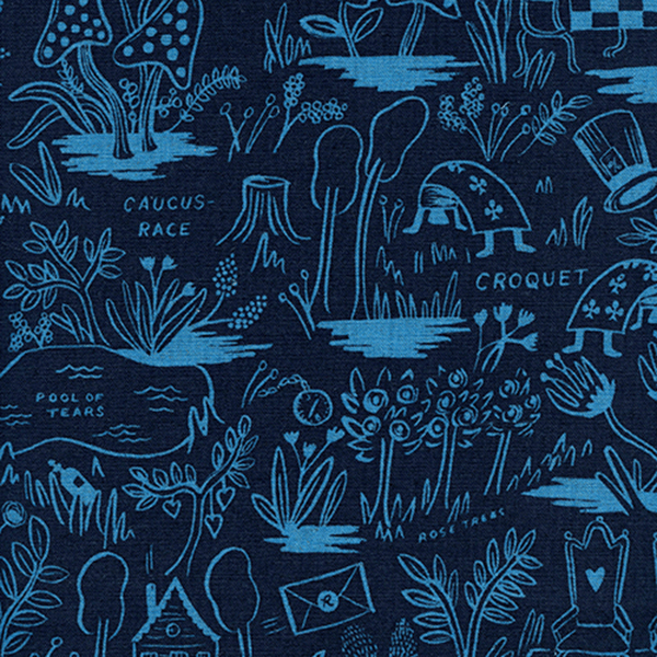 Magic Forest in Navy (CANVAS)