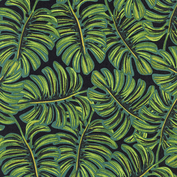 Monstera in Midnight (RAYON-LAWN)