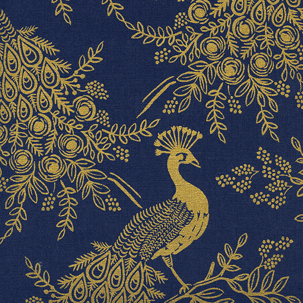 Royal Peacock in Navy (CANVAS METALLIC)