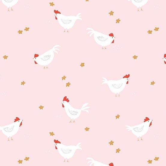 Roosters in Blush