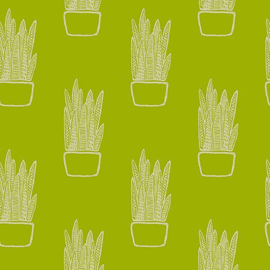 Snake Plant in Chartreuse (LINEN)