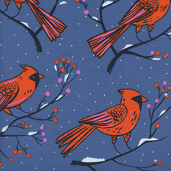 Winter Cardinals in Blue