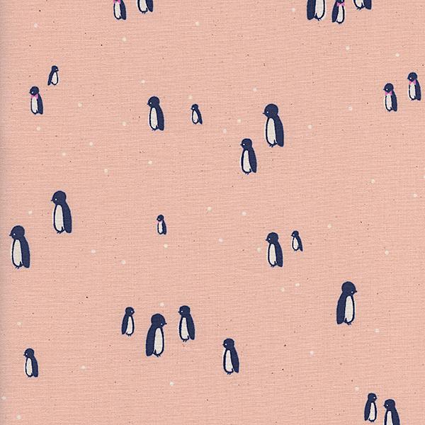 Penguin Party in Peach
