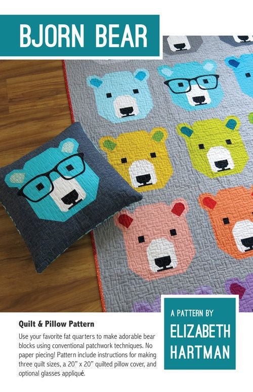 Buy Bjorn Bear Quilt Pillow Pattern At Ilovefabric For Only