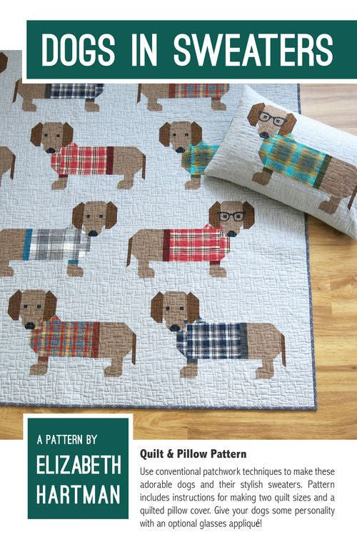 Dogs in Sweaters Quilt & Pillow Pattern