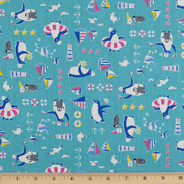Ahoy Penguins in Aqua
