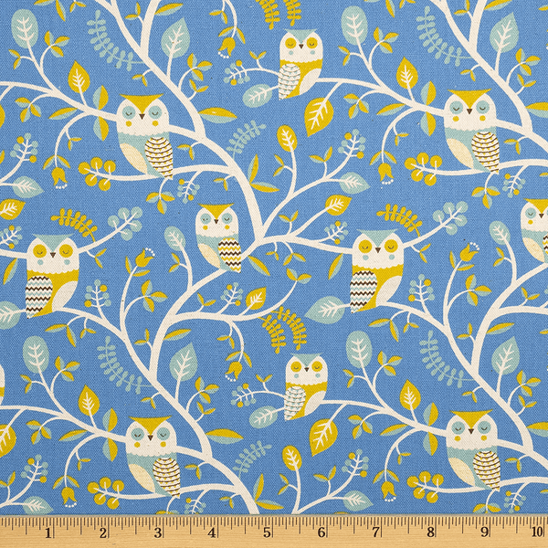 Owl Forest in Blue