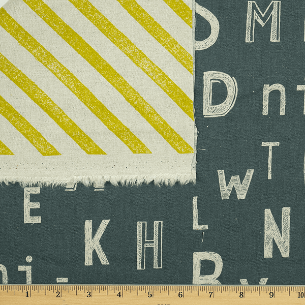 Letters and Stripes in Citron