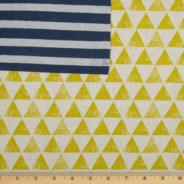 Triangles and Stripes in Mustard