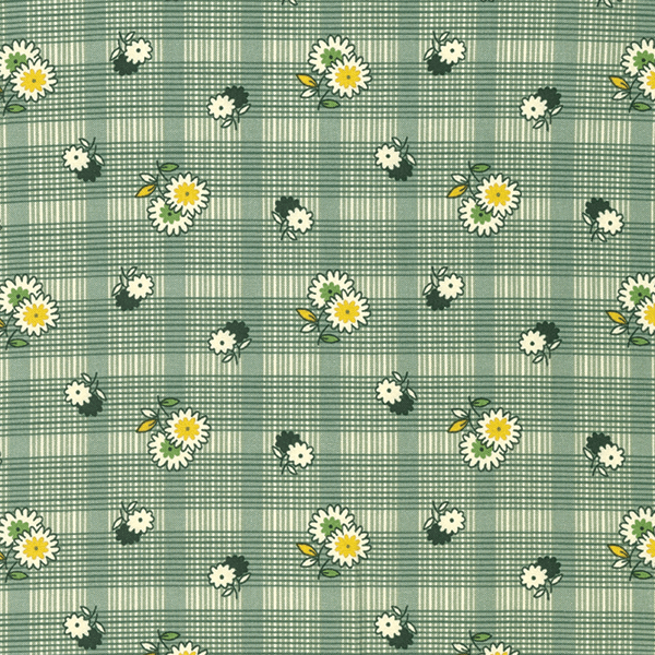Floral Plaid in Evergreen