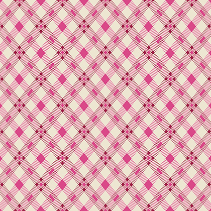 Open Plaid in Wild Rose