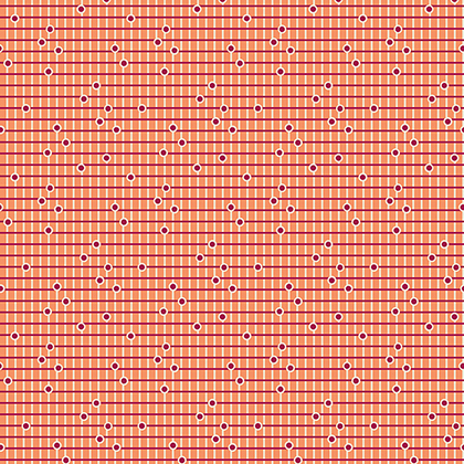 Dotted Grid in Wild Rose