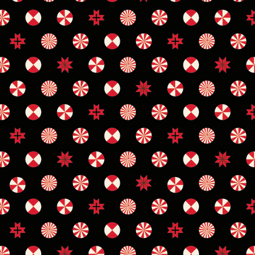 Peppermint Stars in Ink