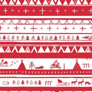 North Pole Stripe in Red