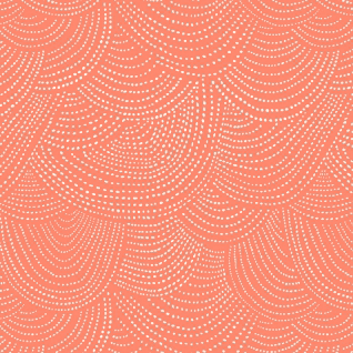 Scallop Dot in Tangerine