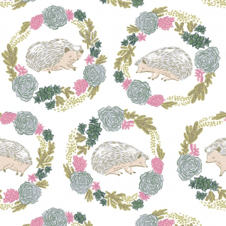Hedgehogs in White