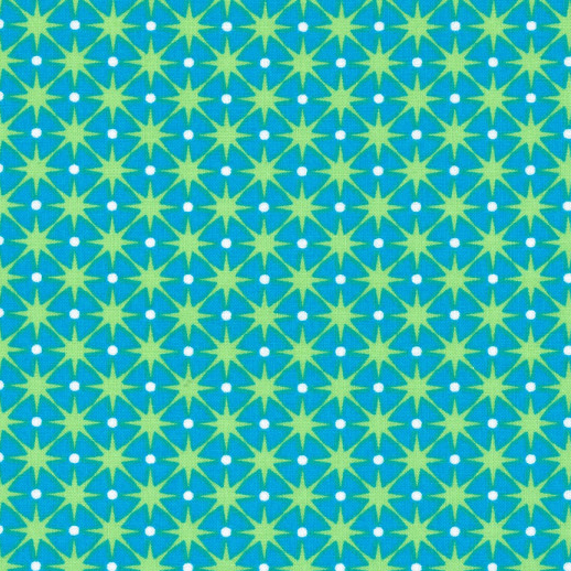 Blue and Green Stars