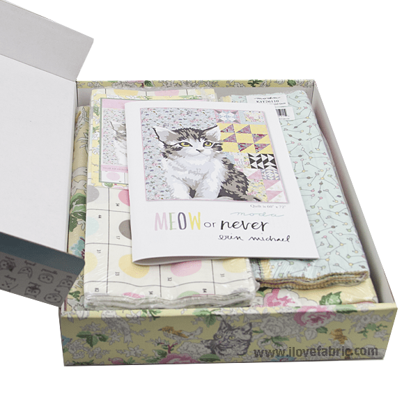Meow or Never Quilt Kit
