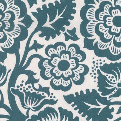 Blockprint Blossom in Peacock (VOILE)