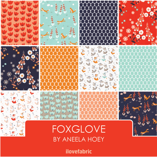 Foxglove Fat Quarter Bundle