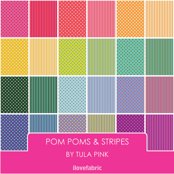 Tula Pink Pom Poms & Stripes Bundle