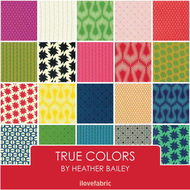 Heather Bailey True Colors Fat Quarter Bundle