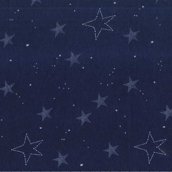 Lucky Stars in Navy (FLANNEL)
