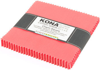 Kona Cotton Charm Square in Pink Flamingo - Color of the Year 2017