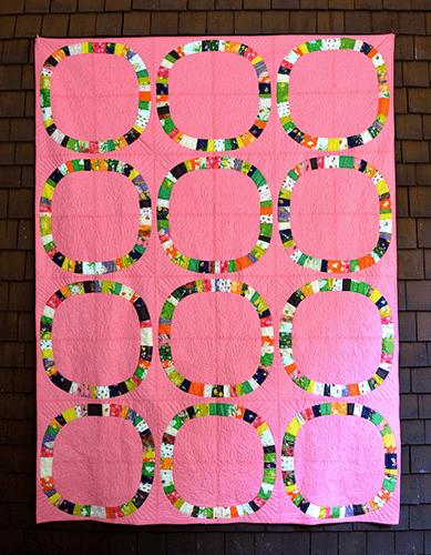 Sleeping Porch Single Girl Quilt Kit in Pink
