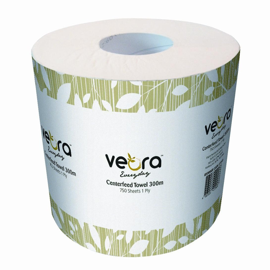 veora everyday centrefeed towel 300m 1 ply  (OUT OF STOCK)