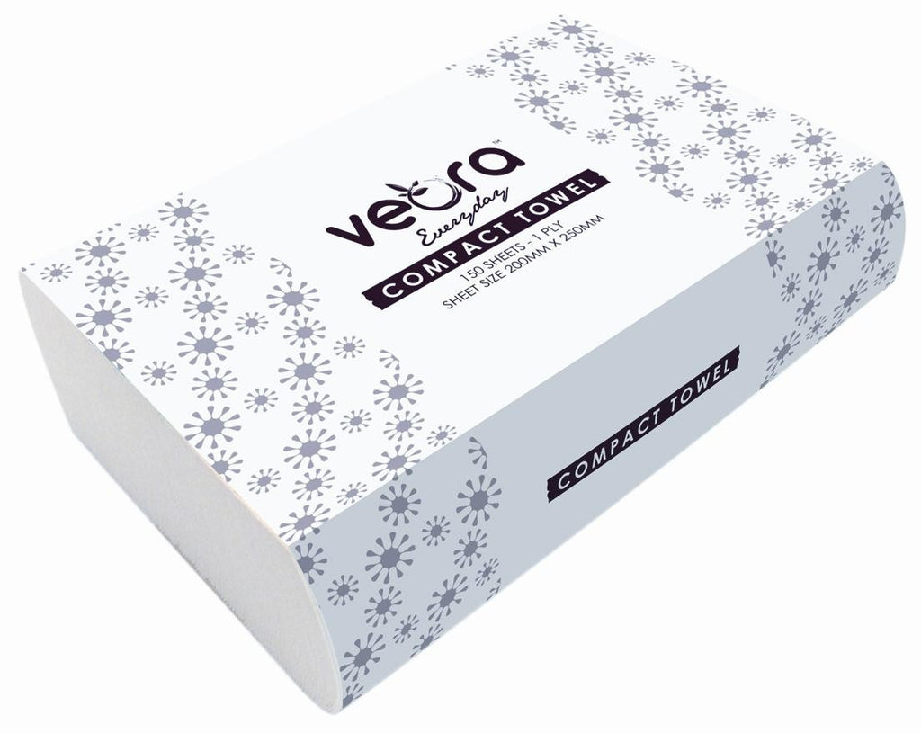 veora everyday compact towel 1 ply 150 sheets 45gsm (OUT OF STOCK)