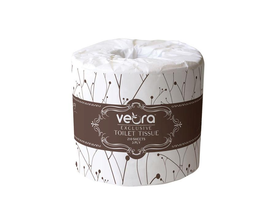 Veora 22811F Veora Exclusive Luxury Toilet Tissue 210 Sheets 3-Ply