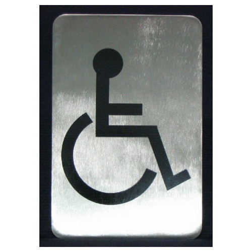 SIGN - DISABLED SYMBOL S/S 120X80MM
