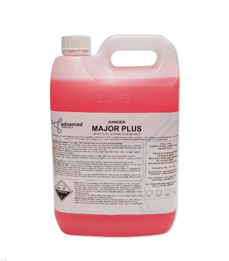 Advanced Chemicals Major Plus 5L: Heavy Duty Degreaser