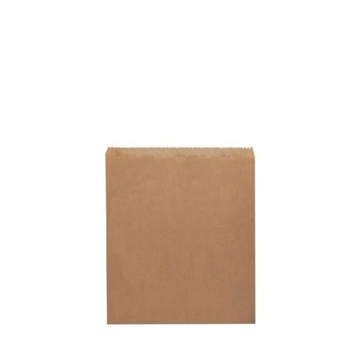 BAG PAPER BROWN FLAT #1W 200X165MM (PK500)