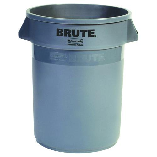 BIN ROUND BRUTE 38L GREY RUBBERMAID