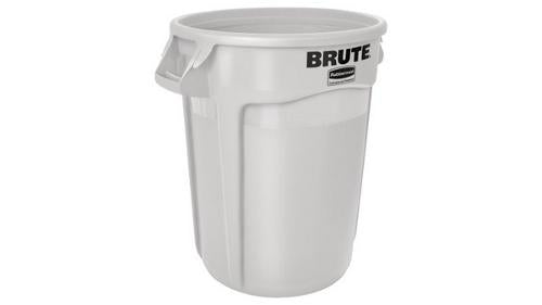 BIN ROUND BRUTE 38L WHITE RUBBERMAID