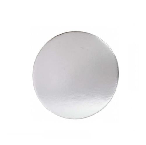 CAKE BOARD ROUND FOIL LINED 250MM (PK50)