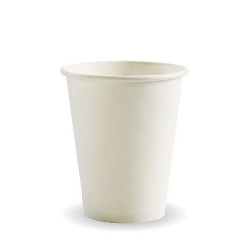 CUP PAPER SINGLE WALL 227ML 8OZ WHITE BIOPAK (CT1000)