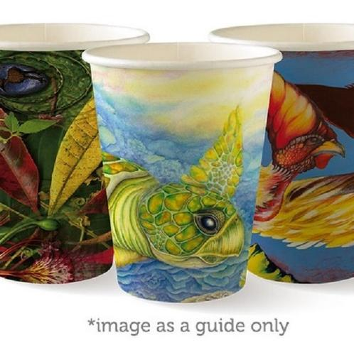CUP PAPER SINGLE WALL 340ML 12OZ ART SERIES BIOPAK (CT1000)