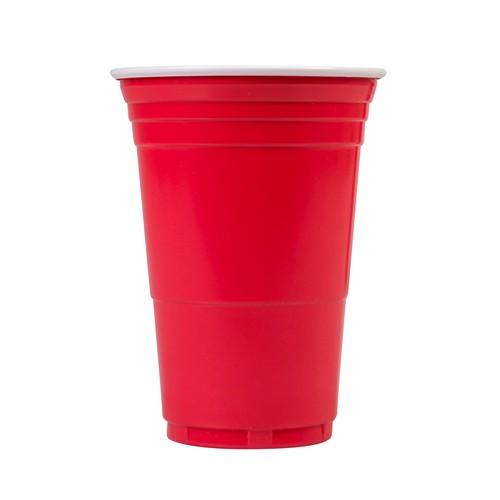 CUP PLASTIC RED DISPOSABLE 425ML BIG CUP CO.(CT1000)