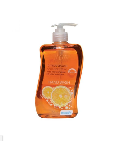 Citrus Splash Antibacterial Hand Wash 500ml - Pack of 6/12