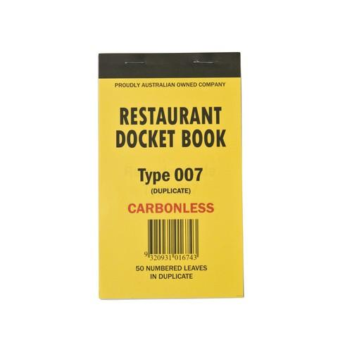 DOCKET BOOK RESTAURANT MED 2P CARBONLESS 50X2