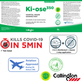 Ki-ose 350 Disinfectant Cleaner (5 min contact time vs. Covid19)