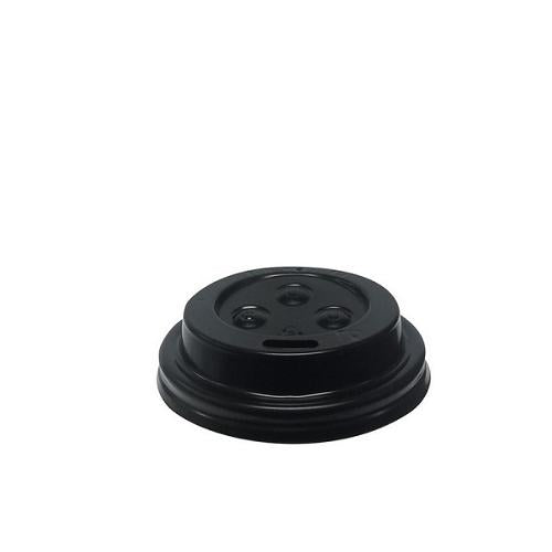 LID PLASTIC BLACK SIPPA FOR 4OZ / 118ML PAPER CUP (PK100)