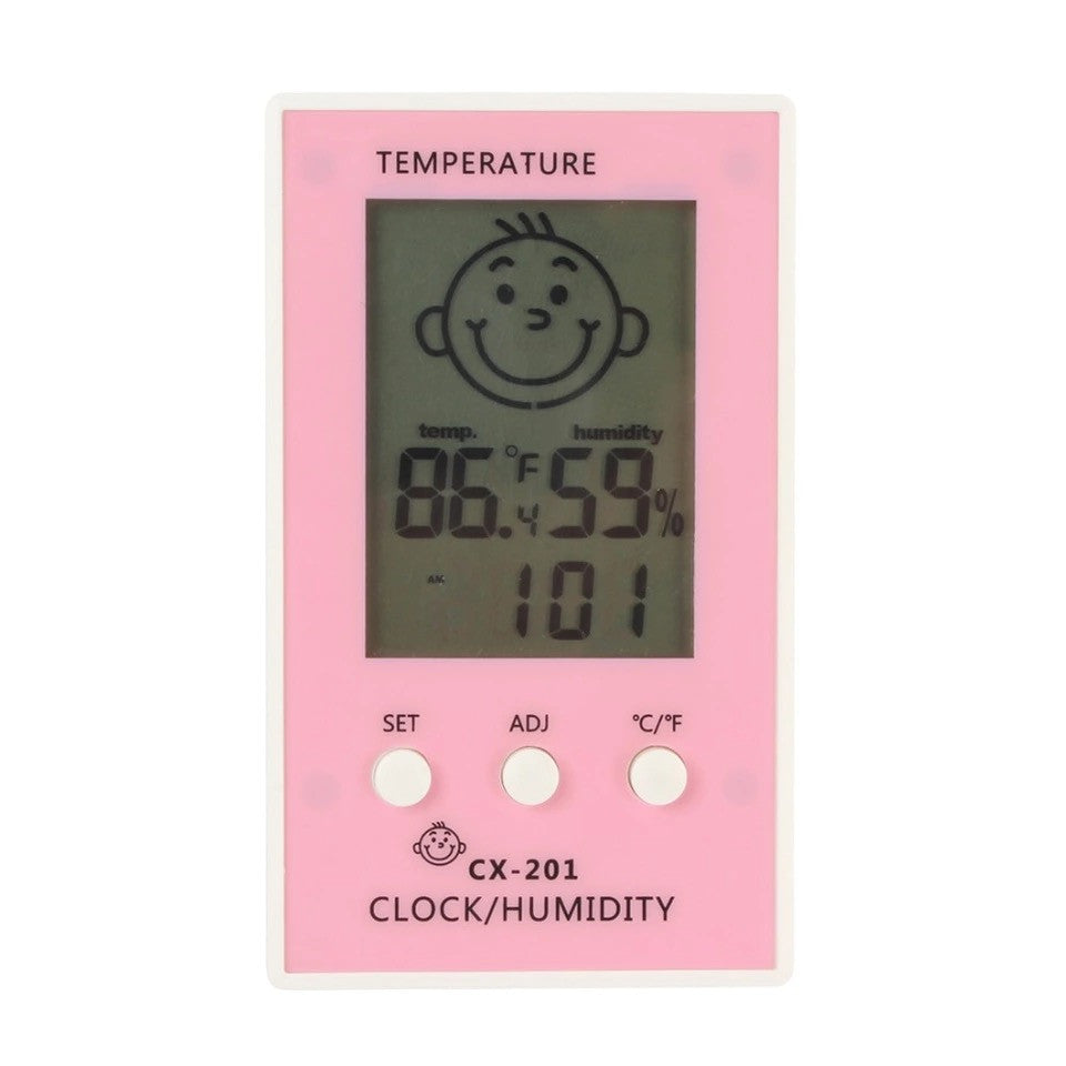Baby Room Mini Hygrometer with Smart Smiley Face